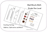 Mad Minute Math - Gr. 1