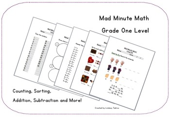 Mad Minute Math - Gr. 1 (level 50 - 100)