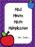 Mad Minute Math Multiplication