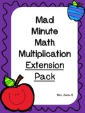 Mad Minute Math Multiplication Expansion Pack
