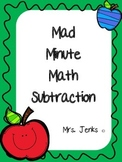 Mad Minute Math Subtraction