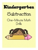 Mad Minute Math Subtraction: One-Minute Math Drills
