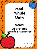 Mad Minute Mixed Operations Addition/Subtraction