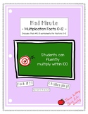 Mad Minute Multiplication Facts 0-12 Pack (#3)