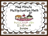 Mad Minute Multiplication Math / Ice Cream Celebration