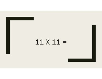 Mad Minute Multiplication (Times Tables up to 12 x 12)