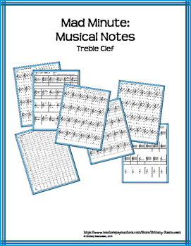 Mad Minute: Musical Notes - Treble Clef