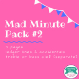 Note Naming Mad Minute Pack #2