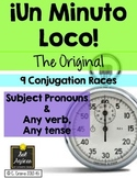 Minuto Loco - Any verb, Any tense #1 EDITABLE Conjugation Games - Standard Size