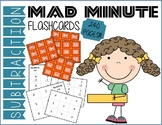 Mad Minute Subtraction Flashcards