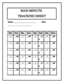 Mad Minute Tracking Sheet