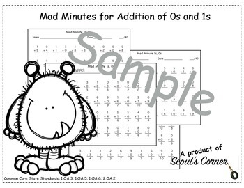 Mad Minutes Addition 0s and 1s (FULL)