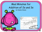 Mad Minutes Addition 2s and 3s