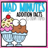 Mad Minutes Addition Ice Cream Themed