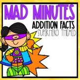 Mad Minutes Addition SuperHero Themed