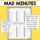 Mad Minutes: Addition and Subtraction Fact Fluency and Progress Monitoring
