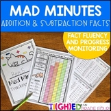 Mad Minutes Addition and Subtraction Fact Fluency and Progress Monitoring