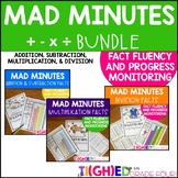 Mad Minutes BUNDLE | Addition, Subtraction, Multiplication, Division Math Facts