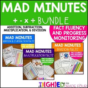 Mad Minutes Math BUNDLE!{Addition, Subtraction, Multiplication}