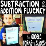 Mad Minutes Digital Addition & Subtraction Fluency Bundle