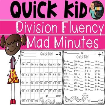 Mad Minutes Divison Fluency