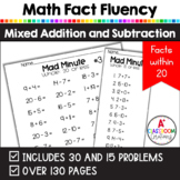 Mad Minutes Math Fact Fluency:  Addition and Subtraction  {Common Core Aligned}