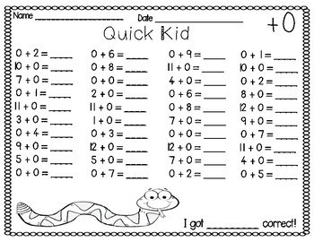 Mad Minutes and Addition Fluency