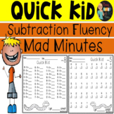 Mad Minutes Subtraction Fluency