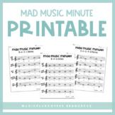 Mad Music Minute | Printable