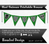 Mad Science Bubbling Potion A-Z, numbers, symbols PDF Printable Banner