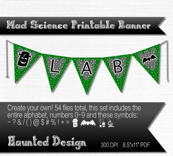 Mad Science Bubbling Potion A-Z, numbers, symbols PDF Prin