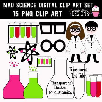 Mad Science Digital Clip Art Set