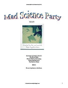 Mad Science Party Kit #1