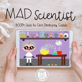 Mad Scientist Speech Therapy Activity: BOOM Cards for Earl