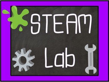 Mad Scientist Black NEON Chalkboard Content Area Lab Posters for Your Classroom