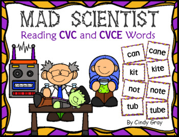 Mad Scientist ~ CVC and CVCE Words