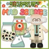 BUNDLED SET - Mad Scientist Clip Art & Digital Stamp Bundle