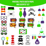 Mad Scientist Einstein Experiments Printable Photo Booth Photobooth Props