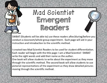 Emergent Readers~ Mad Scientist