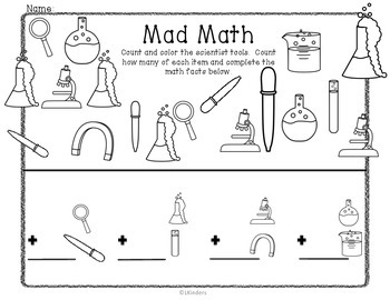Math Activities: Mad Scientist Themed