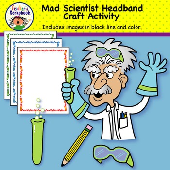 Mad Scientist Headband & Craft activity