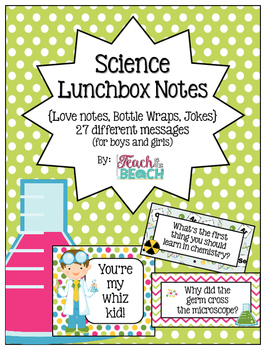 Mad Scientist Lunchbox Notes, Jokes, and Bottle Wraps