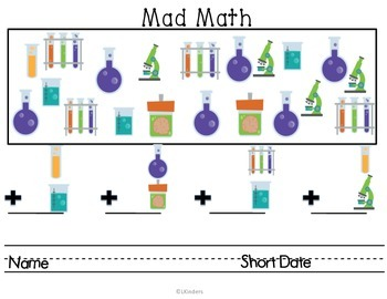Mad Scientist Mini Unit~ Literacy and Math CCSS ALIGNED!
