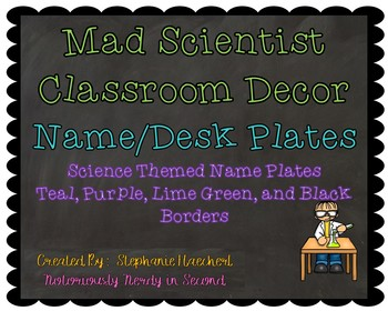 Mad Scientist Name/Desk Plates