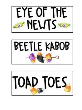 Mad Scientist Party Labels