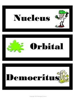 Mad Scientist Phyiscal Science Vocab