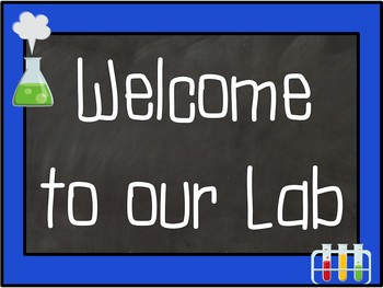 Mad Scientist Primary & Secondary Chalkboard Content Area Lab Posters
