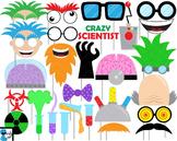 Crazy Scientist Props Digital Clip Art Personal Commercial