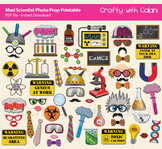 Mad Scientist Theme Photo Booth Prop, Children Science The