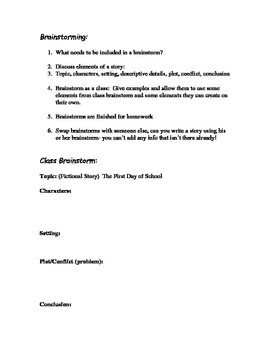 Mad Scientist writing activity